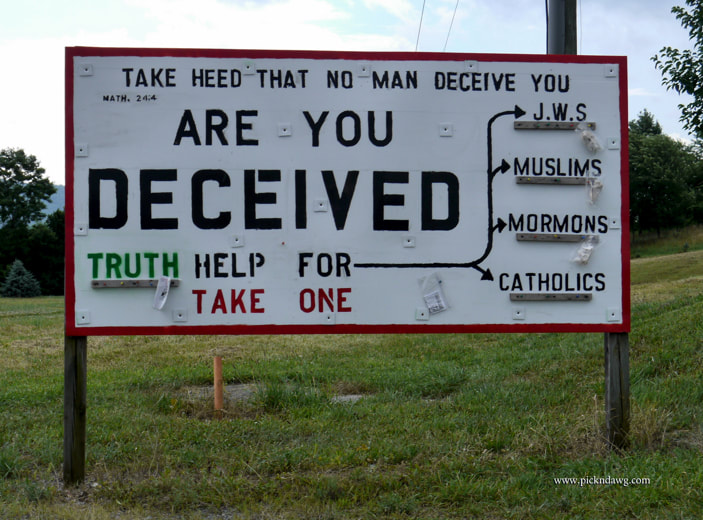 Are You Deceived sign Catholics Mormons Muslims