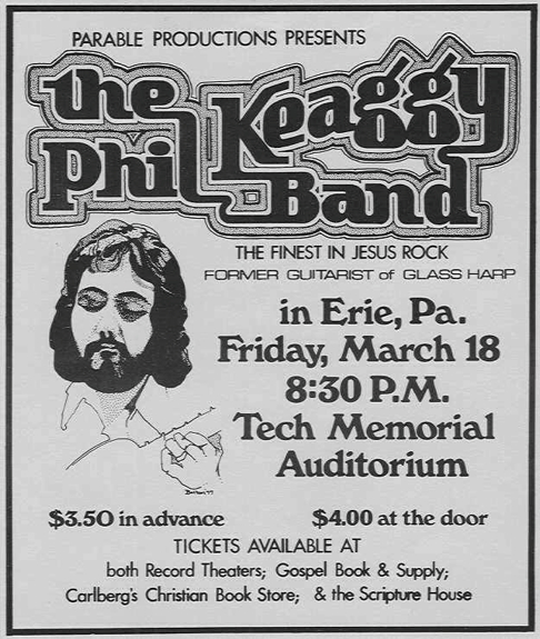 Phil Keaggy Band poster Erie PA pickndawg