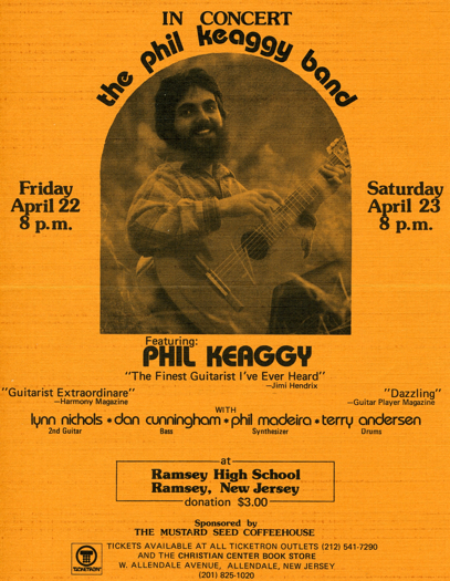 Phil Keaggy Band poster - Ramsey NJ pickndawg