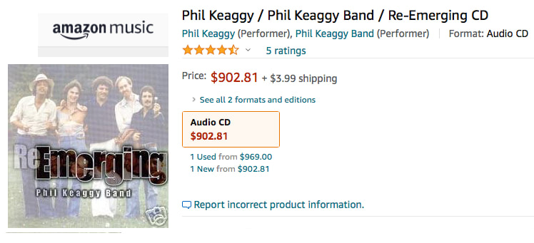 Phil Keaggy Band Reemerging CD on Amazon